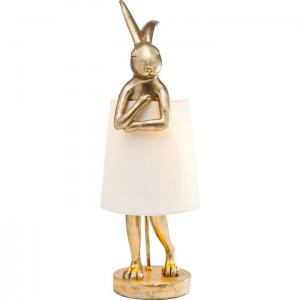 Lampa stołowa Animal Rabbit Gold 68 Kare